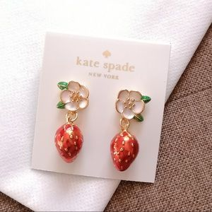 Kate Spade picnic perfect strawberry earrings